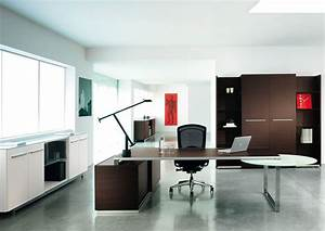 Modern executive office design with two tone interior ...
