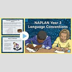 * New * Understanding Naplan  Language Conventions Year 3