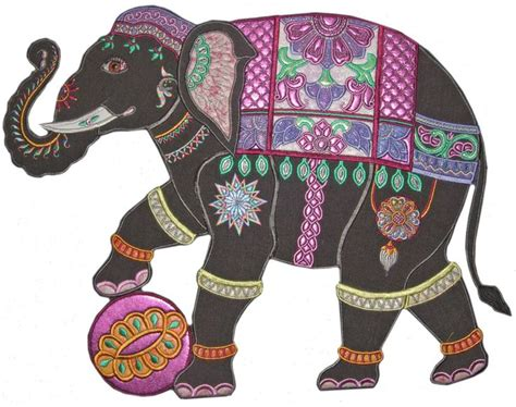 indian elephant applique pattern google search