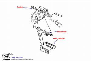 C3 Corvette Brake Pedal Parts