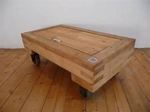 Couchtisch Loft Design : rollpalette vintage industrie design loft tisch couchtisch rollbar fabrik ahorn ebay ~ Indierocktalk.com Haus und Dekorationen
