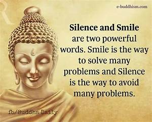 Silence & smile   quotes   Buddhist quotes, Inspirational ...