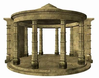 Clipart Temple Column Architecture Ruins Transparent Ancient