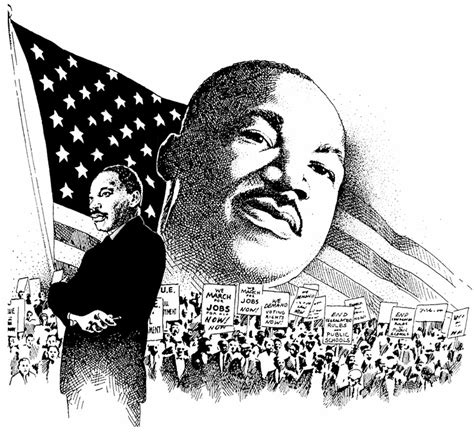 Mlk Clip Martin Luther King Clipart Black And White Pencil And In