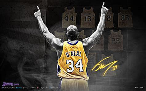 shaquille oneal graphics los angeles lakers