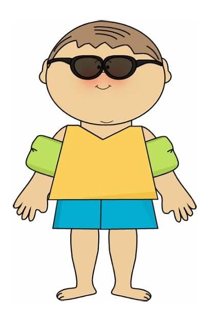 Clipart Wearing Clip Summer Boy Floats Sunglasses