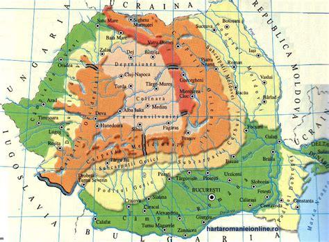 ROMÂNIA - harta turistica si rutiera - drumuri, imagini satelit, obiective turistice ROMÂNIA