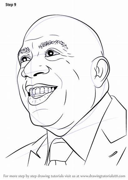 Draw Magic Johnson Drawing Step Basketball Players