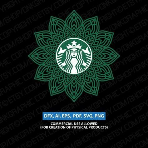 Compatibility overview for mandala svg cut file set in svg,eps,dxf,and png: Mandala Svg For Starbucks Cup Ideas - Layered SVG Cut File