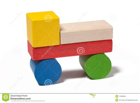 car  colorful wooden toy blocks stock photo image