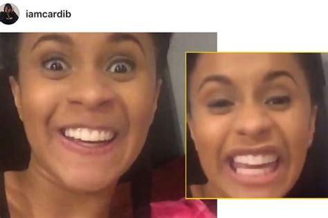 how cardi b teeth use to look cardi b from love and hip hop finally got her teeth