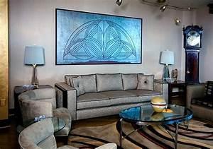 Art deco interior designs and furniture ideas for Art deco living room furniture