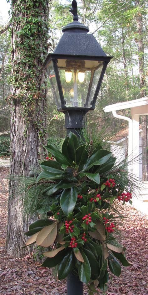 holiday outdoor l post love decorated post lanterns holiday merriment decor