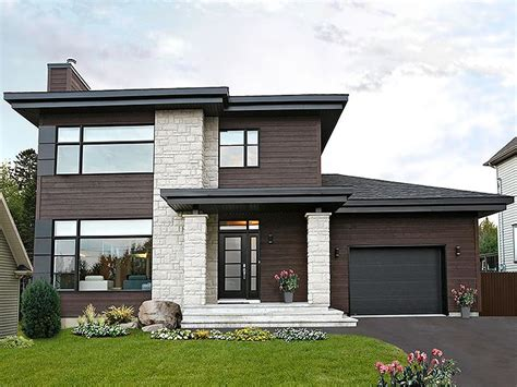 Two Story Home Plans by Contemporary House Plans Modern Two Story Home Plan
