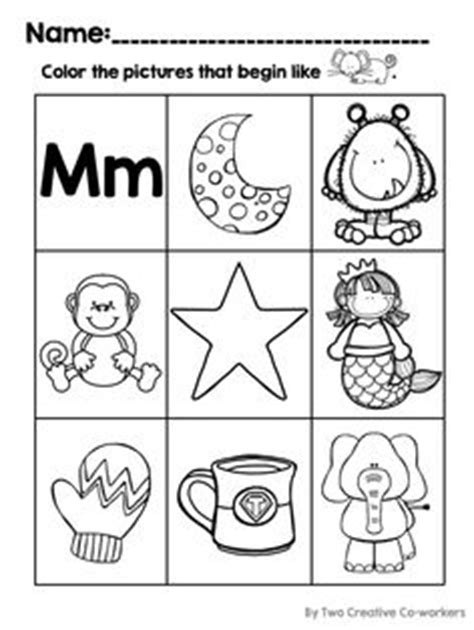 color that starts with letter d beginning sounds cut glue worksheets popcorn themed 49148