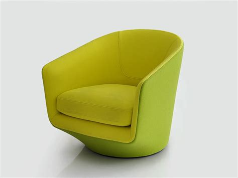 club swivel fabric armchair u turn u turn collection by bensen