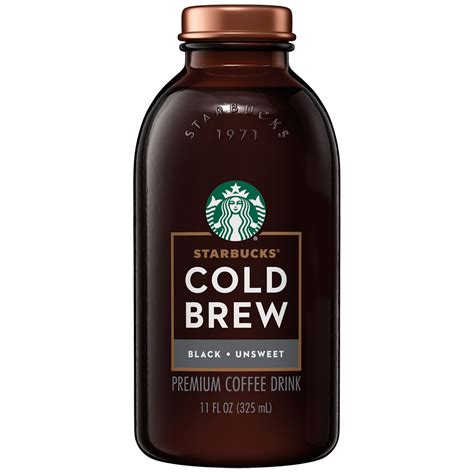 Iced coffee is brewed double strength then cooled, which creates a refreshing, lighter body. Starbucks Cold Brew Coffee, Black Unsweetened, 11 oz Glass Bottles, 6 Count - Walmart.com ...