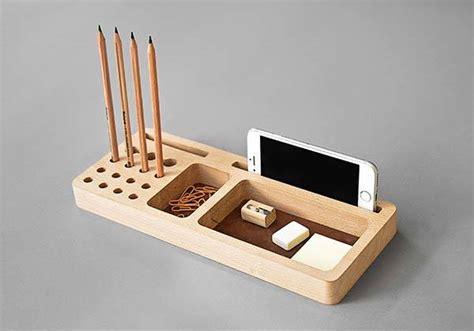 handmade    wooden desk organizer gadgetsin