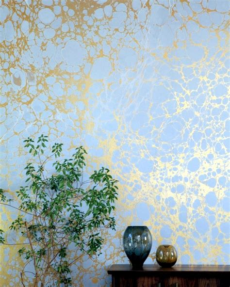 Two creative ideas for wallpaper designs with marble