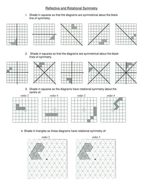 maths symmetry worksheet challenging teaching resources