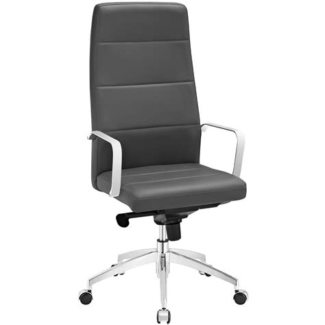 stride high back office chair upholstered in vinyl with
