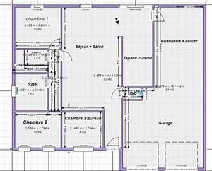 les 25 meilleures idees concernant plan de maison 100m2 With plan de maison de 100m2 plein pied