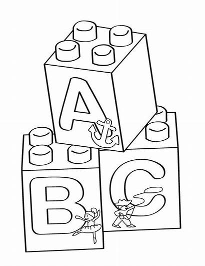 Blocks Coloring Lego Pages Printable Printables Activity