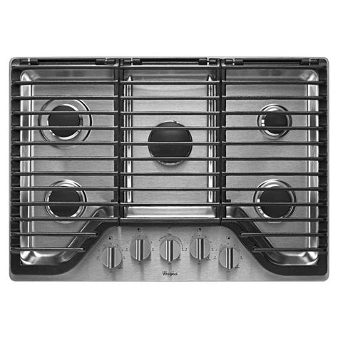 two burner cooktop whirlpool 30 in gas cooktop in stainless steel with 5