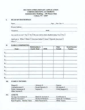 section 8 application form section 8 forms fill printable fillable blank