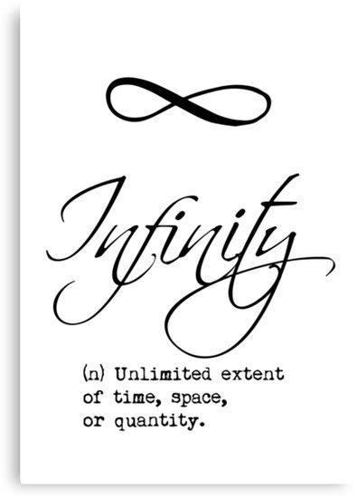 """"""" Infinity Definition Calligraphy"""" Canvas Prints By"""