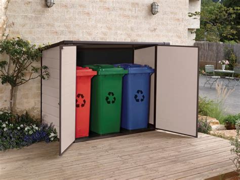outdoor storage for everything including the wheelie bin