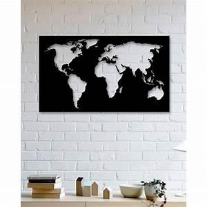 Carte Du Monde Metal : tableau d co en acier carte du monde packtoo ~ Teatrodelosmanantiales.com Idées de Décoration
