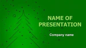 Powepoint Themes Download Free Green Christmas Powerpoint Template And