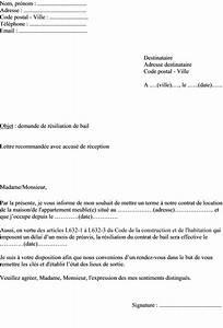 modele lettre preavis appartement meuble 1 mois document With lettre preavis appartement non meuble