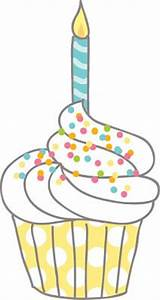 Birthday Cupcake With Candle Clipart (51+)