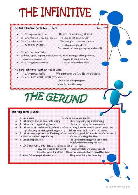 Infinitive And Gerund Worksheet  Free Esl Printable Worksheets Made By Teachers
