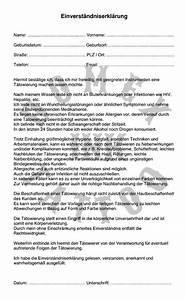 Formlose Einverständniserklärung Muster : fein vorlage f r einwilligungsformular zeitgen ssisch ~ Themetempest.com Abrechnung