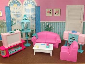 Barbie living room set modern house for Barbie living room furniture set