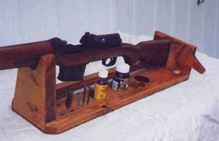 shelf diy   build  wooden gun vise