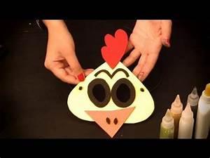 Cómo hacer un antifaz de pollito : Antifaces de animales para niños YouTube