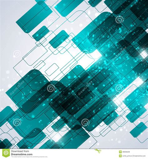blue technology abstract background stock vector