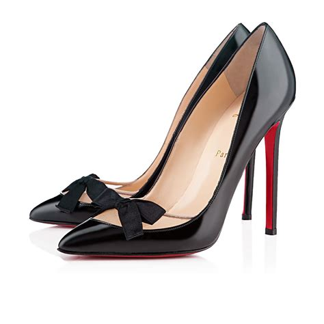 black wedges size 10 christian louboutin me 120mm patent leather pumps