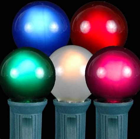 multi colored satin g30 globe outdoor string light