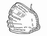 Mitt Coloring Baseball Glove Pages Coloringcrew Ball sketch template