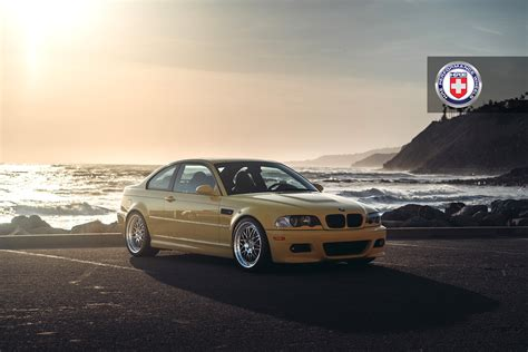 Phoenix Yellow Bmw M3 With Hre 540 Wheels In Polished Clear