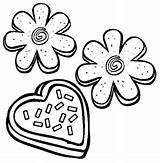 Cookie Coloring Sugar Clip Clipart Valentines Cookies Pages Christmas Valentine Printable Biscuits Library Sheets Printables Cartoon Clipartpanda Cliparts Kitty Hello sketch template