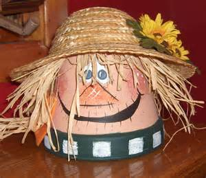 Clay Pot Scarecrow Craft