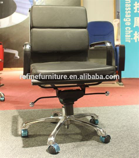 white leather modern swivel executive office chair without