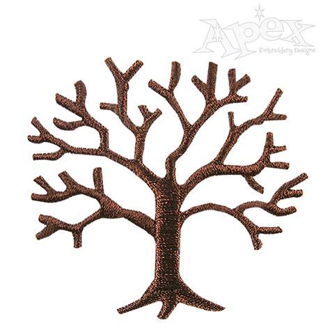 winter tree embroidery design