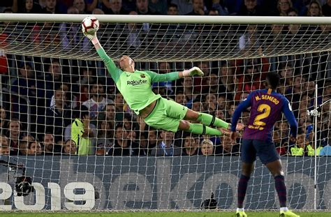 barcelona marc andre ter stegen shows  hes